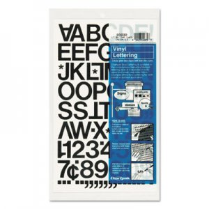 "Chartpak 01030 Press-On Vinyl Letters & Numbers, Self Adhesive, Black, 1""h, 88/Pack CHA01030"