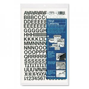 "Chartpak 01010 Press-On Vinyl Letters & Numbers, Self Adhesive, Black, 1/2""h, 201/Pack CHA01010"