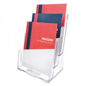 deflecto 77301 Multi Compartment DocuHolder, Three Compartments, 9-1/2w x 8d x 12-5/8h, Clear DEF77301