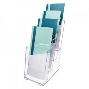 deflecto 77701 Multi Compartment DocuHolder, Four Compartments, 4-7/8w x 8d x 10h, Clear DEF77701