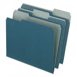 Pendaflex PFX04302 Earthwise by Pendaflex Recycled File Folders, 1/3 Top Tab, Letter, Blue, 100/BX