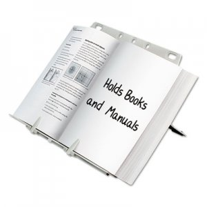 Fellowes 21100 BookLift Copyholder, Plastic, One Book/Pad, Platinum FEL21100