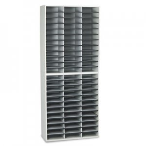 Fellowes FEL25121 Literature Organizer, 72 Letter Sections, 29 x 11 7/8 x 69 1/8, Dove Gray