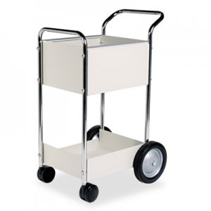 Fellowes FEL40924 Steel Mail Cart, 75-Folder Capacity, 20w x 25-1/2d x 39h, Dove Gray