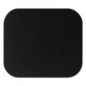Fellowes 58024 Polyester Mouse Pad, Nonskid Rubber Base, 9 x 8, Black FEL58024