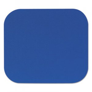 Fellowes 58021 Polyester Mouse Pad, Nonskid Rubber Base, 9 x 8, Blue FEL58021