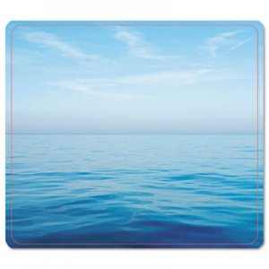 Fellowes 5903901 Recycled Mouse Pad, Nonskid Base, 7 1/2 x 9, Blue Ocean FEL5903901