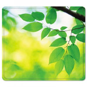 Fellowes 5903801 Recycled Mouse Pad, Nonskid Base, 7 1/2 x 9, Leaves FEL5903801