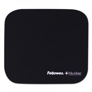 Fellowes 5933801 Mouse Pad w/Microban, Nonskid Base, 9 x 8, Navy FEL5933801