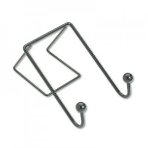 Fellowes 75510 Partition Additions Wire Double-Garment Hook, 4 x 6, Black FEL75510