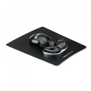Fellowes 9180701 Gel Gliding Palm Support w/Mouse Pad, Black FEL9180701