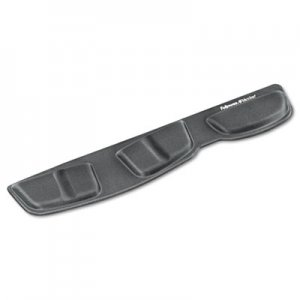 Fellowes 9183801 Memory Foam Keyboard Palm Support, Graphite FEL9183801