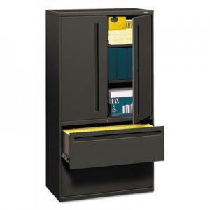 HON 785LSS 700 Series Lateral File w/Storage Cabinet, 36w x 19-1/4d, Charcoal HON785LSS