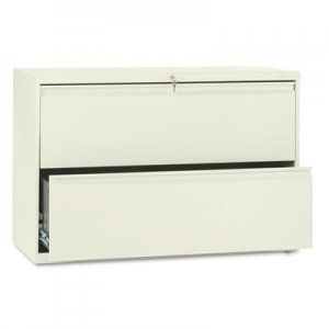 HON 892LL 800 Series Two-Drawer Lateral File, 42w x 19-1/4d x 28-3/8h, Putty HON892LL