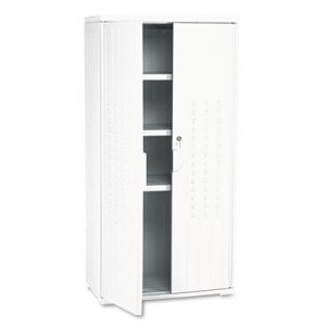 Iceberg 92553 OfficeWorks Resin Storage Cabinet, 33w x 18d x 66h, Platinum ICE92553
