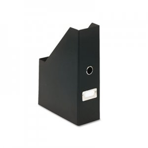 "Snap-N-Store SNS01565 Heavy-Duty Fiberboard Magazine File with PVC Laminate, 4"" x 9 1/4"" x 14"", Black"