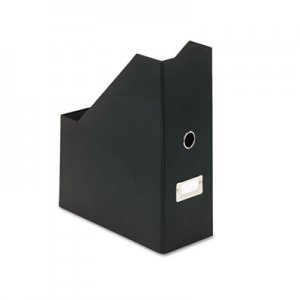 Snap-N-Store SNS01637 Heavy-Duty Fiberboard Magazine File with PVC Laminate, 4 1/2 x 11 x 13, Black