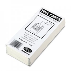 Lathem Time LTHE7100 Time Card for Lathem Model 7000E, Numbered 1-100, Two-Sided, 100/Pack E7-100