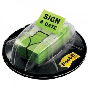 "Post-it Flags MMM680HVSD Page Flags in Dispenser, ""Sign & Date"", Bright Green, 200 Flags/Dispenser 680-HVSD"
