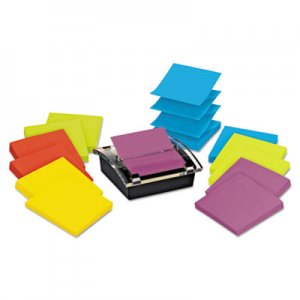 Post-it Pop-up Notes Super Sticky MMMDS330SSVA Super Sticky Pop-up Dispenser Value Pack, 3 x 3, Assorted DS330