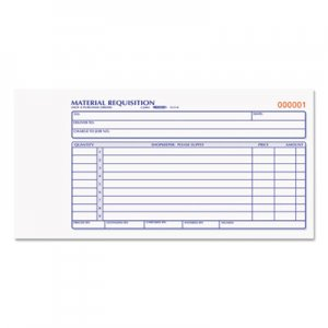 Rediform 1L114 Material Requisition Book, 4 1/4 x 7 7/8, Two-Part Carbonless, 50-Set Book RED1L114