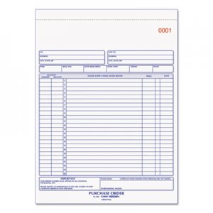 Rediform 1L146 Purchase Order Book, 8 1/2 x 11, Letter, Two-Part Carbonless, 50 Sets/Book RED1L146