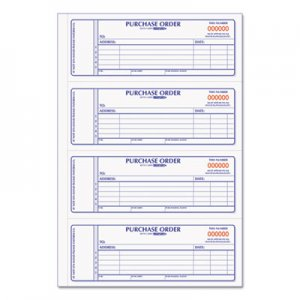 Rediform 1L176 Purchase Order Book, 7 x 2 3/4, Two-Part Carbonless, 400 Sets/Book RED1L176
