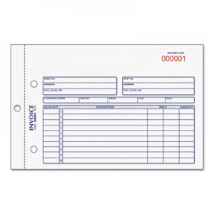 Rediform 7L721 Invoice Book, 5 1/2 x 7 7/8, Carbonless Duplicate, 50 Sets/Book RED7L721