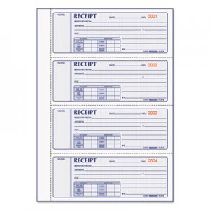 Rediform RED8L818 Money Receipt Book, 7 x 2 3/4, Carbonless Triplicate, 200 Sets/Book