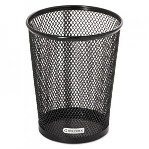 Rolodex ROL62557 Nestable Jumbo Wire Mesh Pencil Cup, 4 3/8 dia. x 5 2/5, Black