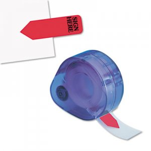 "Redi-Tag 81054 Arrow Message Page Flags in Dispenser, ""Sign Here"", Red, 120/Dispenser RTG81054"