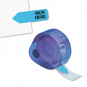 "Redi-Tag RTG81034 Arrow Message Page Flags in Dispenser, ""Sign Here"", Blue, 120 Flags/Dispenser"