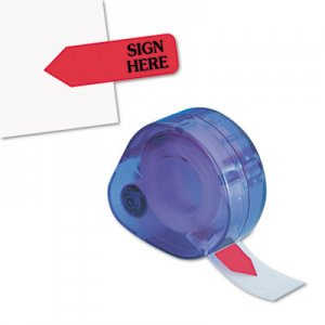 "Redi-Tag 81024 Arrow Message Page Flags in Dispenser, ""Sign Here"", Red, 120 Flags/ Dispenser RTG81024"