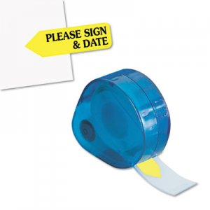 "Redi-Tag 81124 Arrow Message Page Flags in Dispenser, ""Please Sign and Date"", Yellow, 120 Flags RTG81124"