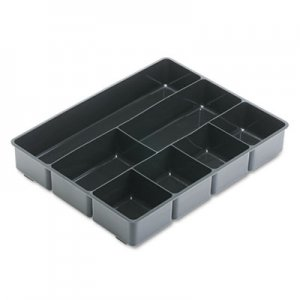 Rubbermaid Commercial 11906ROS Extra Deep Desk Drawer Director Tray, Plastic, Black RUB11906ROS