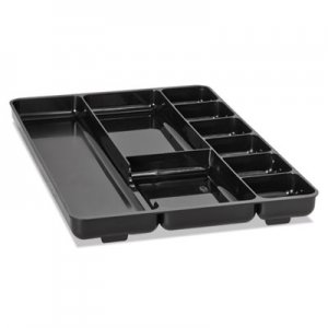 Rubbermaid Commercial 45706 Regeneration Nine-Section Drawer Organizer, Plastic, Black RUB45706