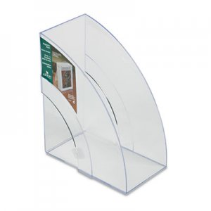 Rubbermaid Commercial 96502ROS Optimizers Deluxe Plastic Magazine Rack, 5 1/4 x 9 x 11 1/8, Clear RUB96502ROS