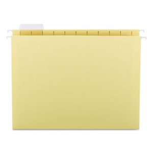 Smead 64069 Hanging File Folders, 1/5 Tab, 11 Point Stock, Letter, Yellow, 25/Box SMD64069