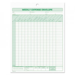 TOPS TOP1242 Weekly Expense Envelope, 8 1/2 x 11, 20 Forms