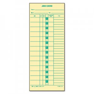 TOPS 1258 Job Card for Cincinnati/Lathem/Simplex, 1 Side, 3 1/2 x 9, 500/Box TOP1258