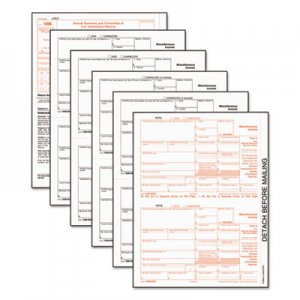 TOPS 22993 1099-MISC Tax Forms, 5-Part, 8 x 5 1/2, Inkjet/Laser, 50 1099s & 1 1096 TOP22993