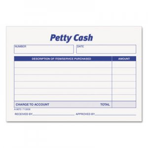 TOPS 3008 Received of Petty Cash Slips, 3 1/2 x 5, 50/Pad, 12/Pack TOP3008