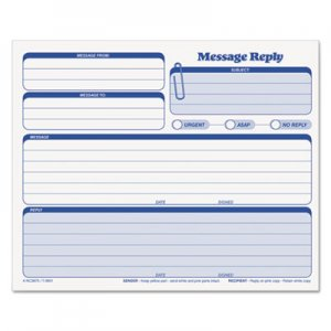 TOPS 3801 Rapid Letter Message Memos Form, 8 1/2 x 7, Three-Part Carbonless, 50 Forms TOP3801