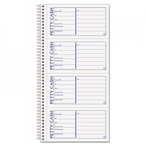 TOPS 4109 Petty Cash Receipt Book, 5 1/2 x 11, Two-Part Carbonless, 200 Sets/Book TOP4109