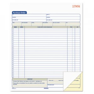 TOPS 46146 Purchase Order Book, 8-3/8 x 10 3/16, Two-Part Carbonless, 50 Sets/Book TOP46146