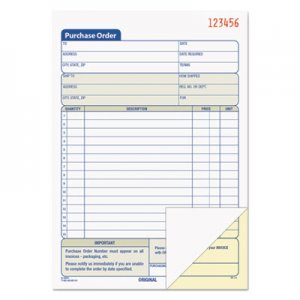 TOPS 46140 Purchase Order Book, 5-9/16 x 7-15/16, 2-Part Carbonless, 50 Sets/Book TOP46140