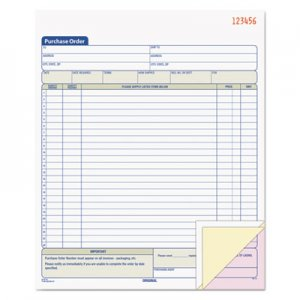 TOPS 46147 Purchase Order Book, 8-3/8 x 10 3/16, Three-Part Carbonless, 50 Sets/Book TOP46147