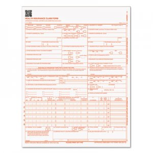 TOPS TOP50126RV Centers for Medicare and Medicaid Services Forms, 8 1/2 x 11, 500 Forms/Pack