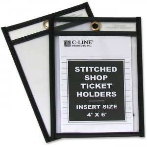 C-Line 46046 Stitched Plastic Shop Ticket Holder CLI46046