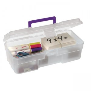 "Akro-Mils 09912CLPUR 12"" Supply Box AKM09912CLPUR"